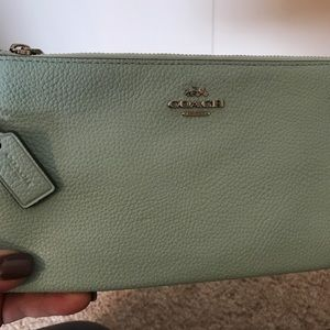 Coach Leather Double Zip Wallet